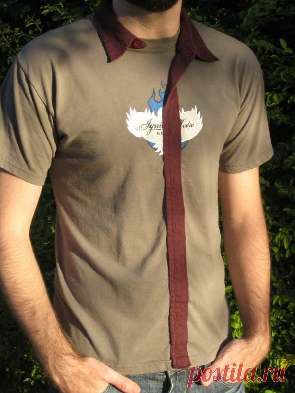 5 минутная переделка футболки / Футболки DIY / Модный сайт о стильной переделке одежды и интерьера