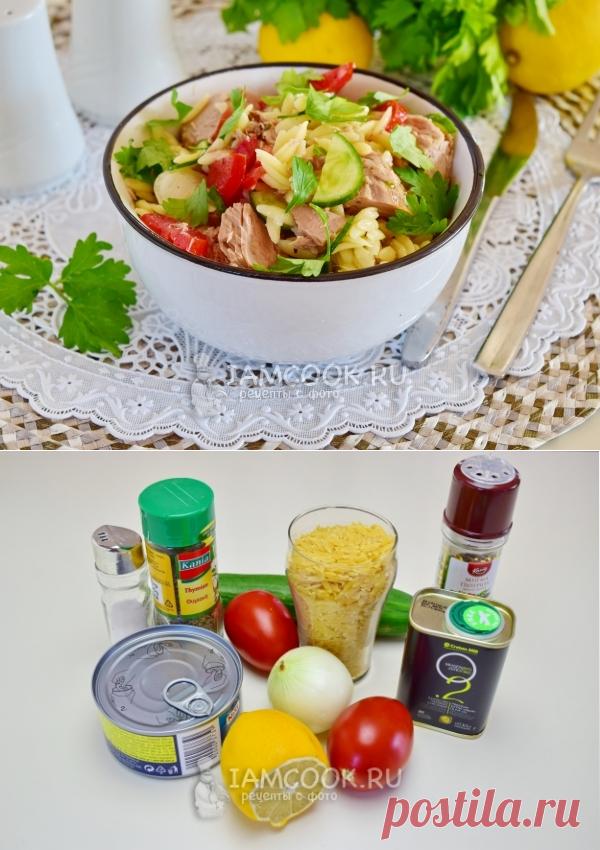 Салат из пасты орзо и консервированного тунца — рецепт с фото пошагово