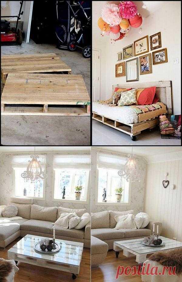 Все самое интересно о деревянных ящиках и поддонах в доме. Самые полезные идеи об их использовании в качестве мебели. Все просто.