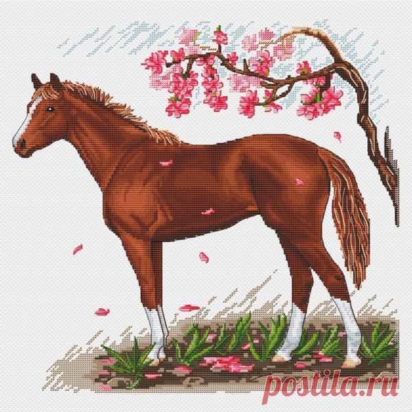 Spring Horse | SA-stitch