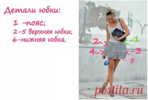 Идея романтичной юбочки. (Описание по клику на картинку).