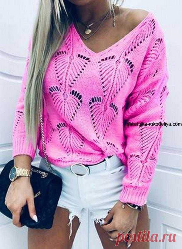 Красивый и необычный узор для пуловера. Новинка 2021. Модный осенний узор для пуловера спицами | Шкатулка рукоделия. Сайт для рукодельниц.