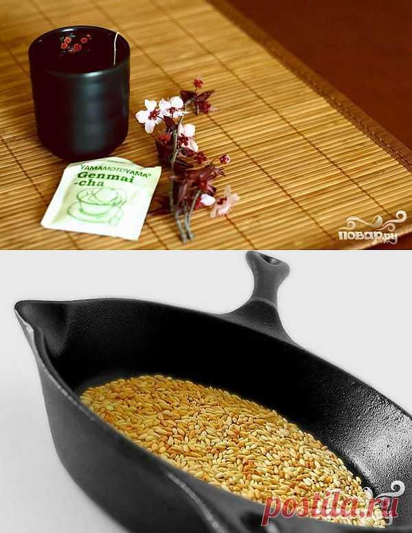 Гэммайтя (генмайтя), от японского «коричневый рисовый чай» - древний энергетический напиток, которым пользовались бедняки для поддержания сил. Он изготавливался из листьев зeленого чая и жареного риса