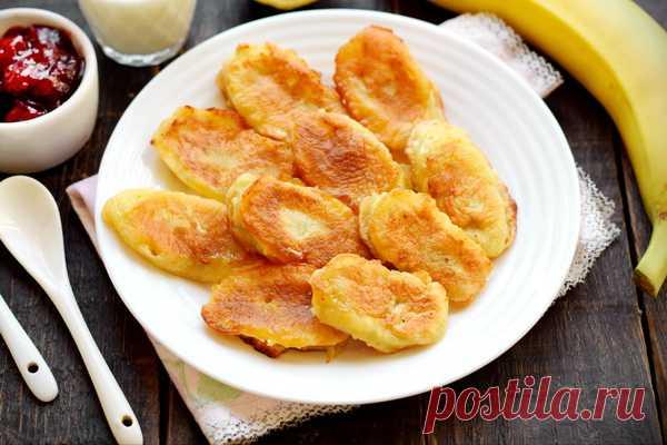 Бананы жареные в кляре на сковороде - рецепт с фото