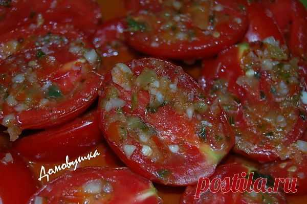 Быстрые помидоры по-корейски.