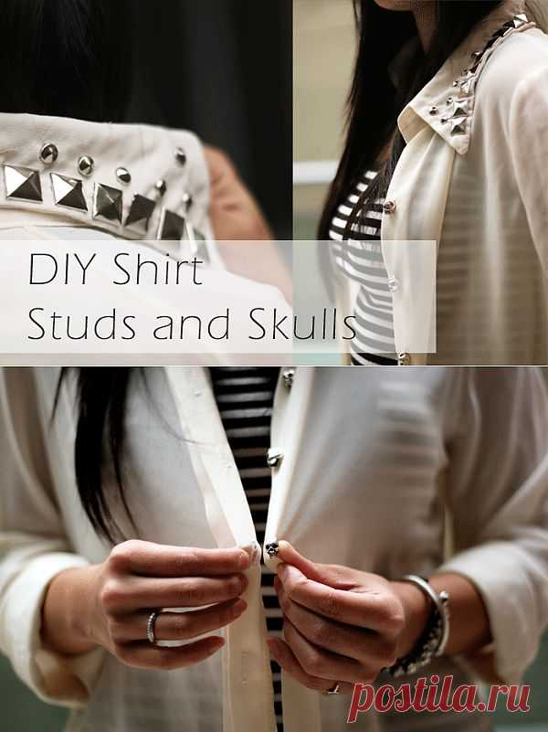 Декор блузки (DIY) / Блузки / Модный сайт о стильной переделке одежды и интерьера