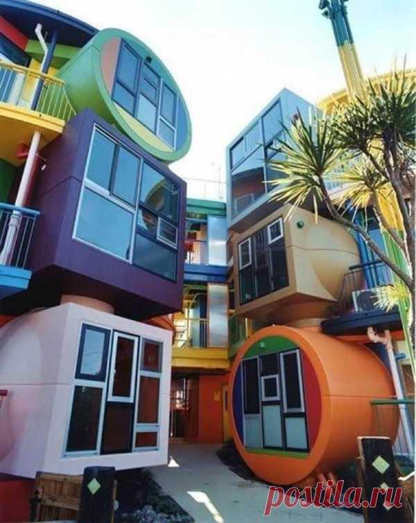 Дом-испытание. Такой комплекс домов можно увидеть в Токио, Япония