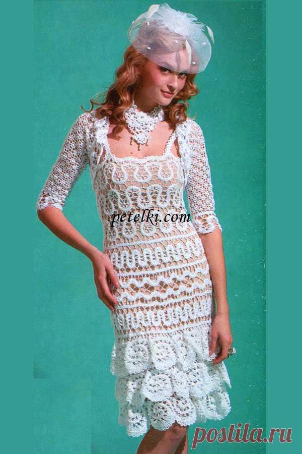 Комплект «Wedding White Dance» (платье болеро и колье).