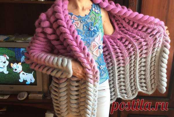 Азиатский колосок спицами схема вязания кофта