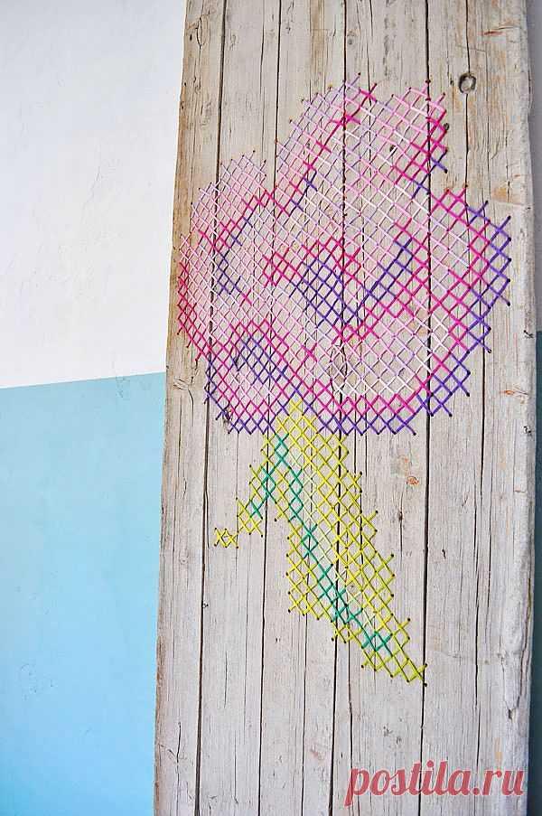 Вышитая дверь... / Вышивка / Модный сайт о стильной переделке одежды и интерьера