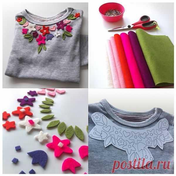 Декор футболки / Для детей / Модный сайт о стильной переделке одежды и интерьера