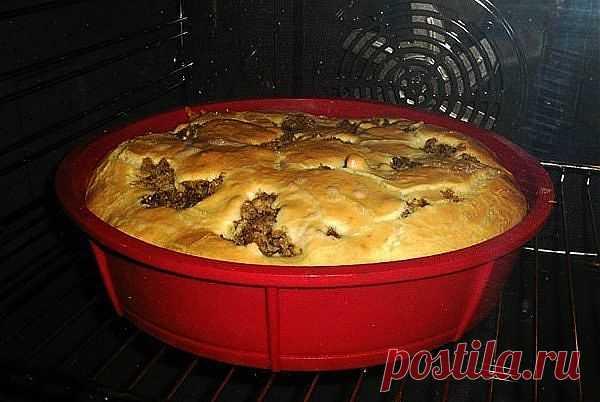 (+1) тема - Пирог «Быстрый и вкусный» из теста на кефире со сметаной и майонезом   ВКУСНО ПОЕДИМ!