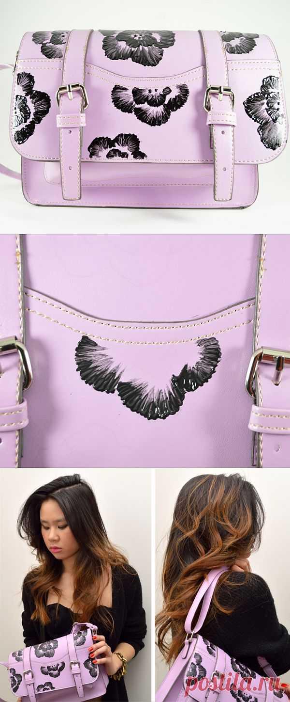 Сумка расписная DIY / Сумки, клатчи, чемоданы / Модный сайт о стильной переделке одежды и интерьера