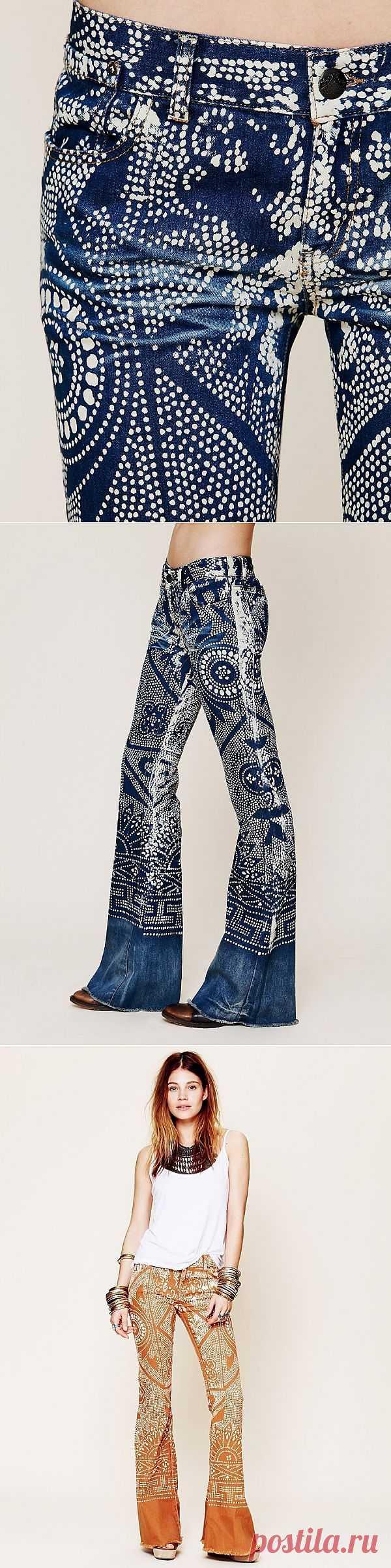 Джинсы в горошек бывают разные (трафик) / Переделка джинсов / Модный сайт о стильной переделке одежды и интерьера