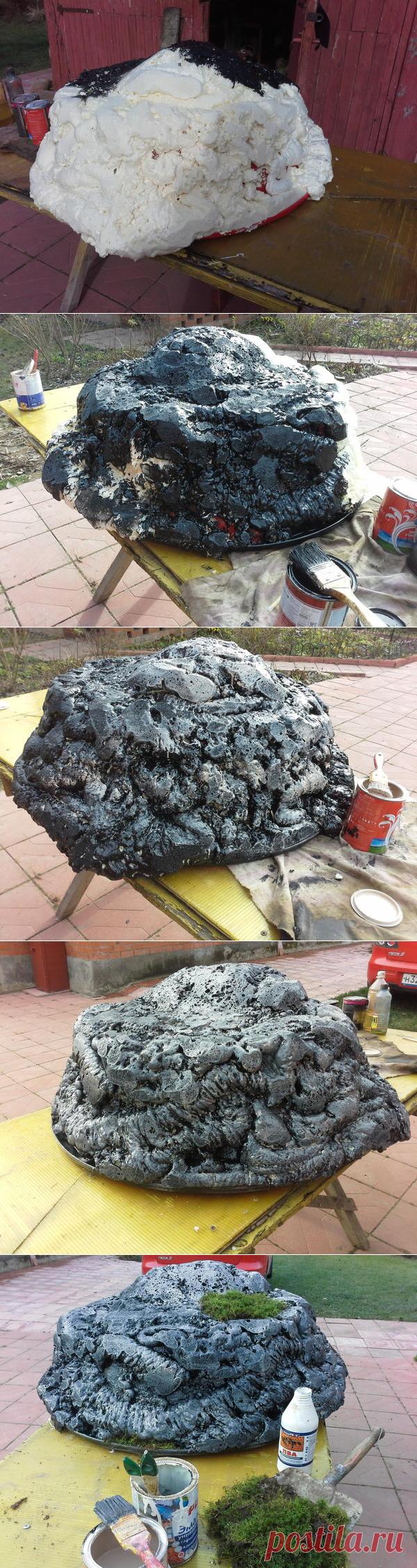 Мастер-класс: Лёгкий камень своими руками - полезное украшение для сада / камни / 7dach.ru