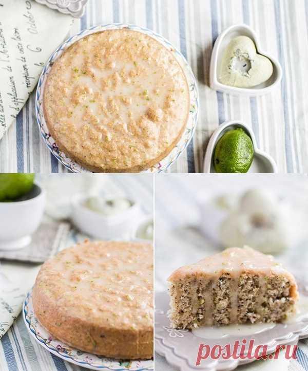 Кокосово-лаймовый ореховый пирог. (Рецепт по клику на картинку).