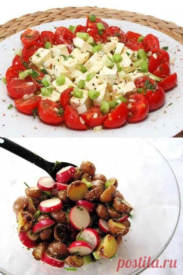 Las ensaladas primaverales hortalizas frescas: ТОП-5 de las recetas