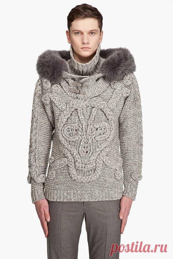 Череп McQueenа / Вязание / Модный сайт о стильной переделке одежды и интерьера