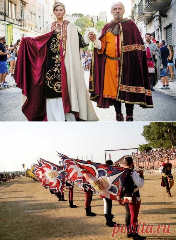 Ория, Апулия: Красочный парад в исторических костюмах «Турнир районов» - новости Италии