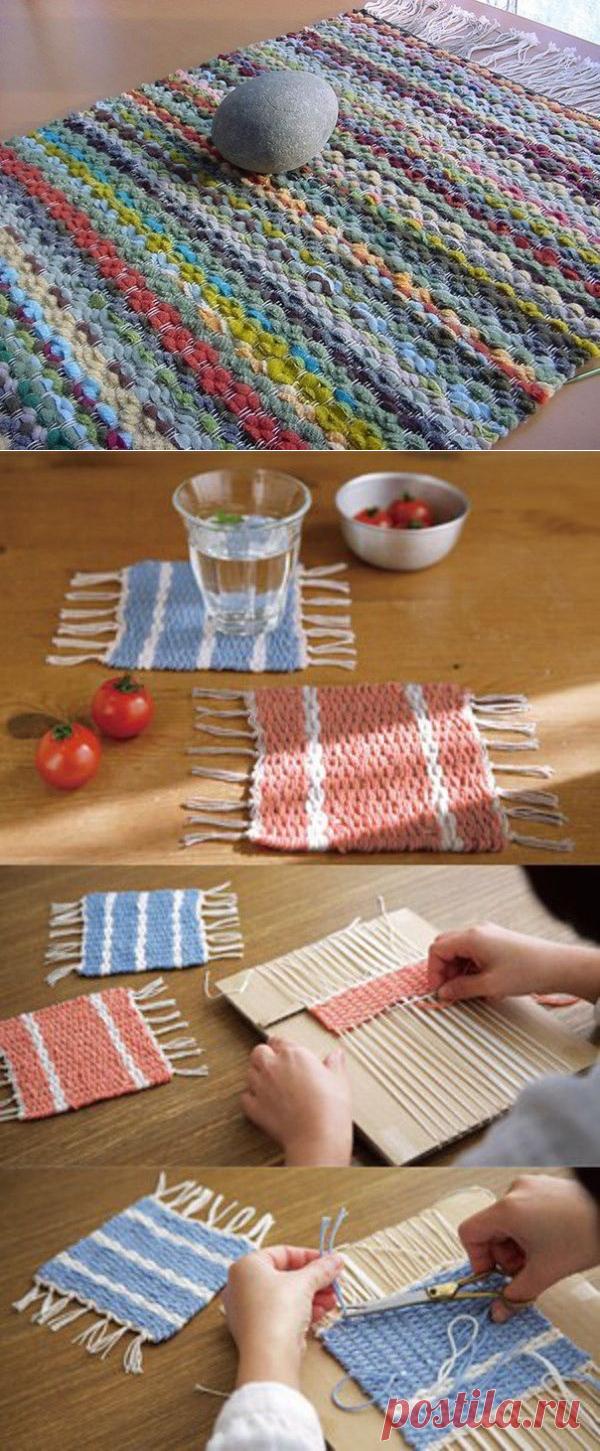 шахтинская вязание дорожек на картоне вилкой пошагово фото стала домашней