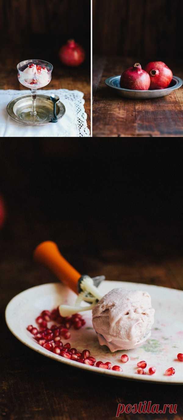 El helado de granada.