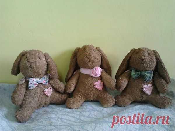 Мастер класс по пошиву игрушки зайки из старого полотенца / Разнообразные игрушки ручной работы / PassionForum - мастер-классы по рукоделию