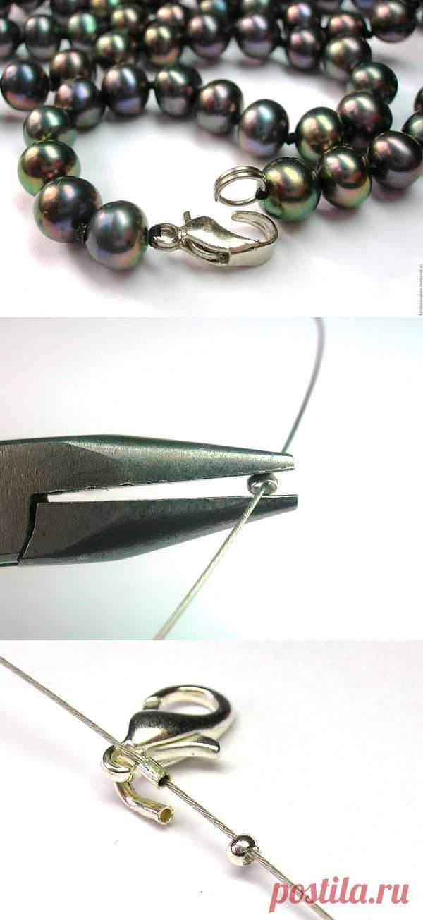 Ремонт бижутерии, сборка на ювелирный тросик - Ярмарка Мастеров - ручная работа, handmade