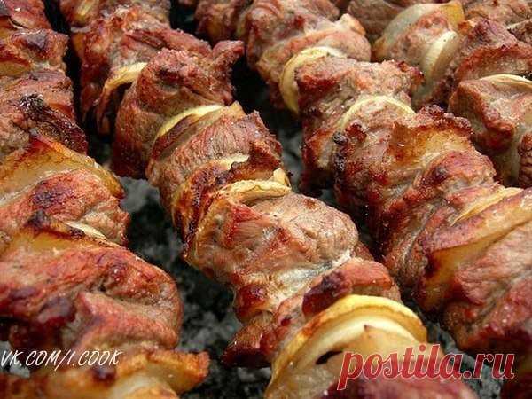 Фантастически мягкое мясо на шашлыки за полчаса!.