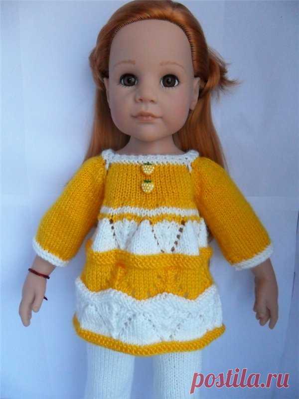 вязаная одежда для кукол ростом 42 50см одежда для кукол шопик