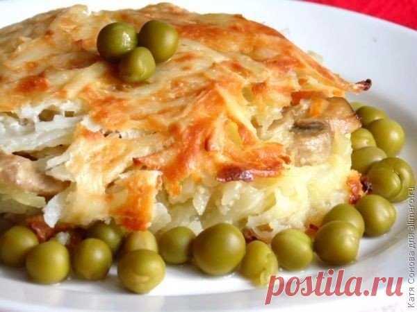 Картофельный пирог с грибами — Мегаздоров