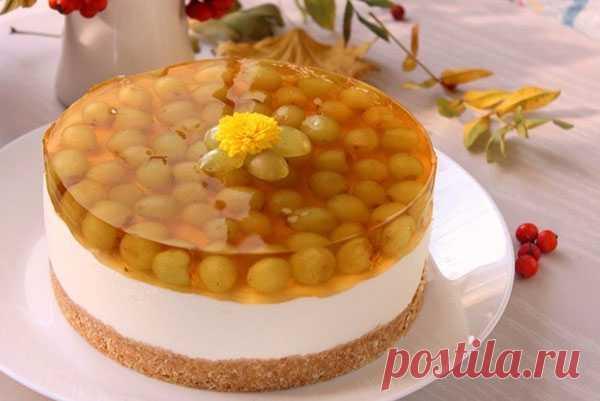 Йогуртовый торт в виноградном желе — Кулинарная страничка