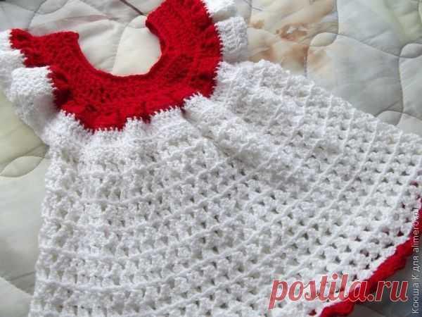 👌 Вязаное крючком платье для девочки, хенд мейд Как вы уже знаете, я начала учиться вязать крючком. Сегодня я хочу представить вашему вниманию вязаное крючком платье для девочки 6 месяцев.   Предлагаю вам посмотреть детальный...