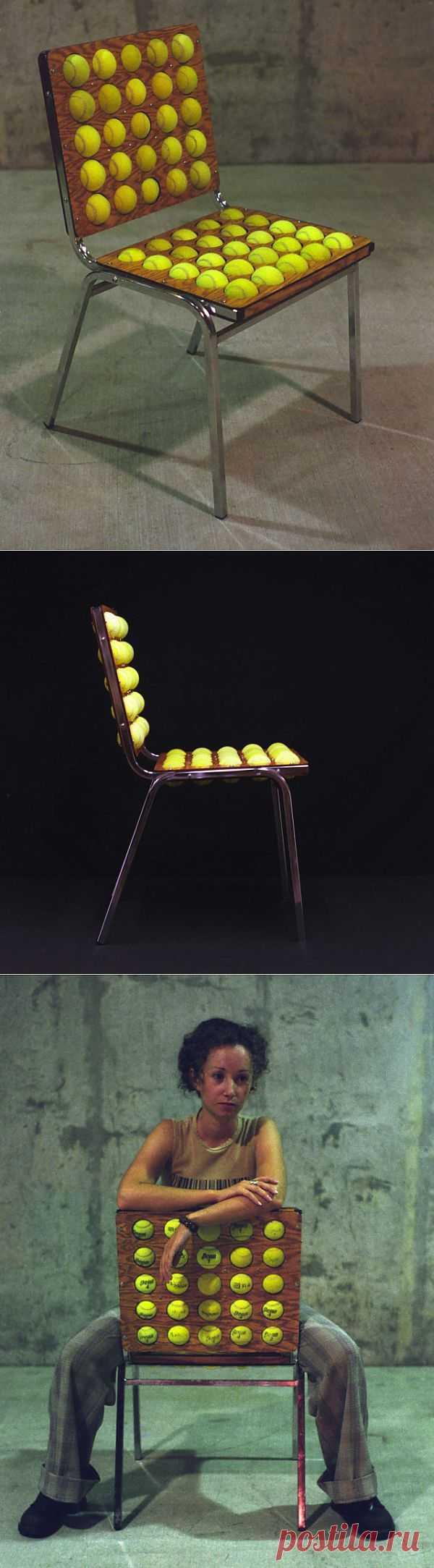 Стул с теннисными мячами (мастер-класс) / Мебель / Модный сайт о стильной переделке одежды и интерьера