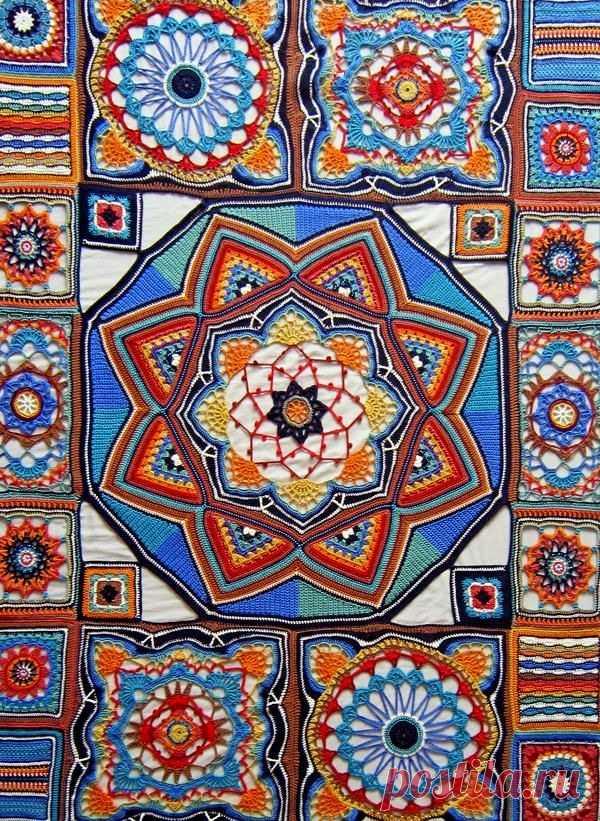 Вязание крючком: Стильные покрывала от Jane Crowfoot (Janie Crow, UK)....