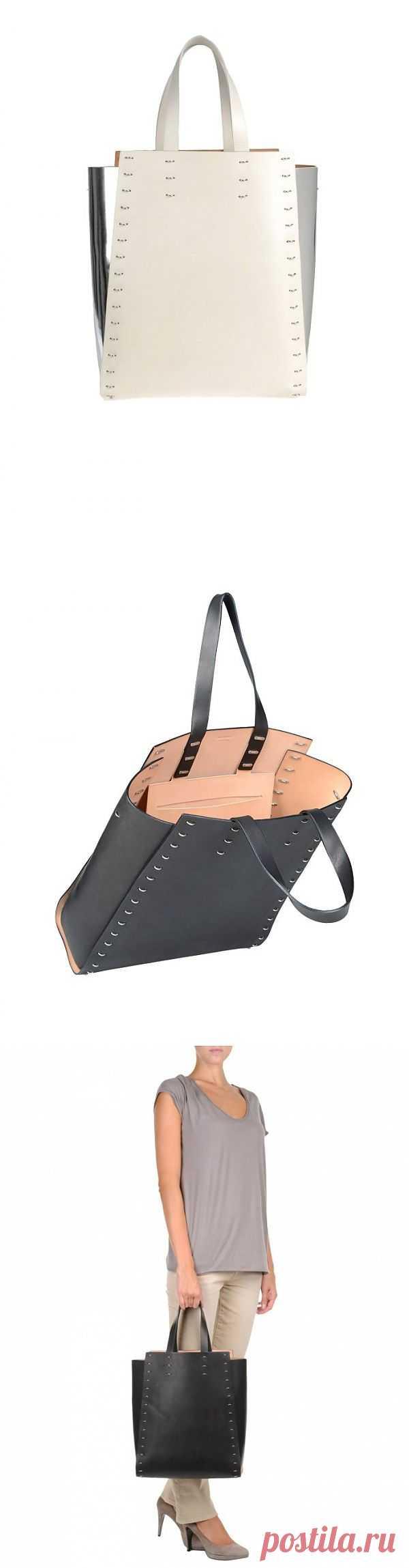 Большая кожаная сумка на скобах от Paco Rabanne (трафик) / Сумки, клатчи, чемоданы / Модный сайт о стильной переделке одежды и интерьера
