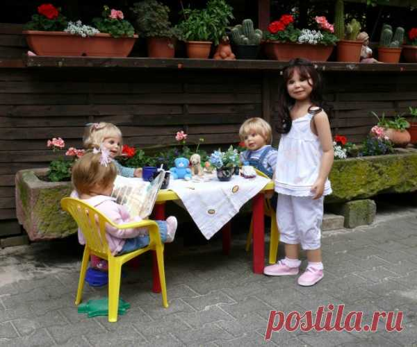 Куклы как дети от Герлинде Фезер.