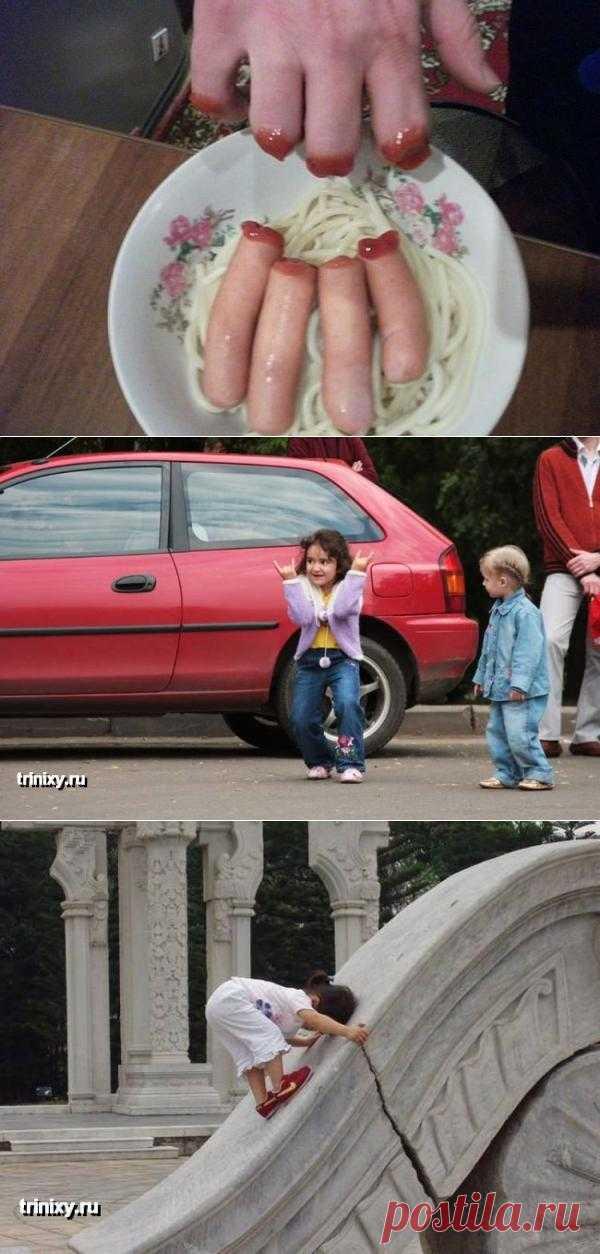Дети реагируют на внешние раздражители очень забавно =)