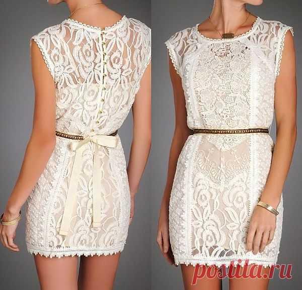 Кружевное платье - пэчворк / Фактуры / Модный сайт о стильной переделке одежды и интерьера