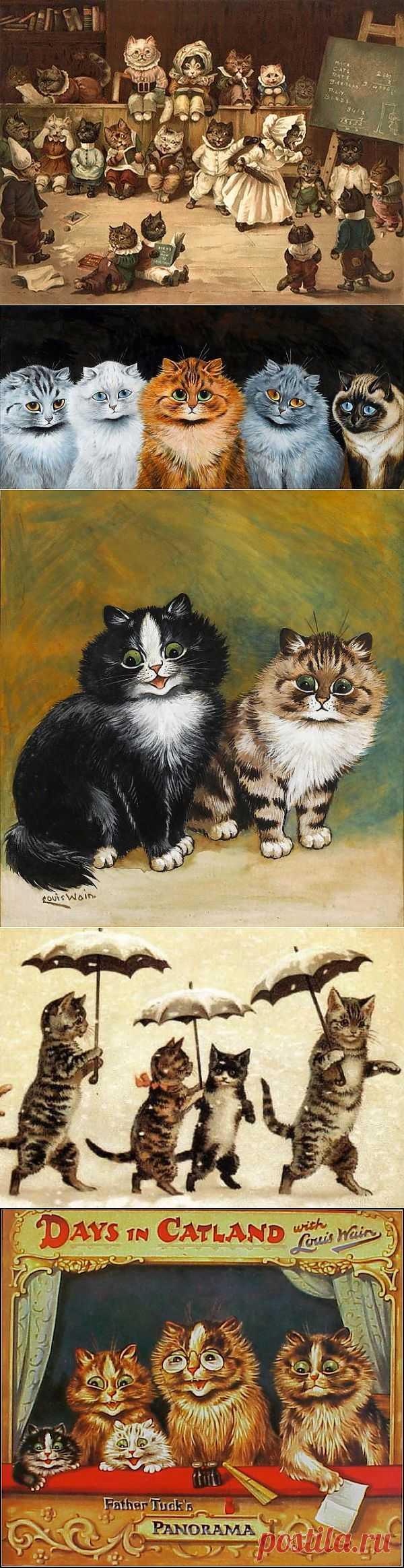Из жизни котов Викторианской эпохи. Louis William Wain.