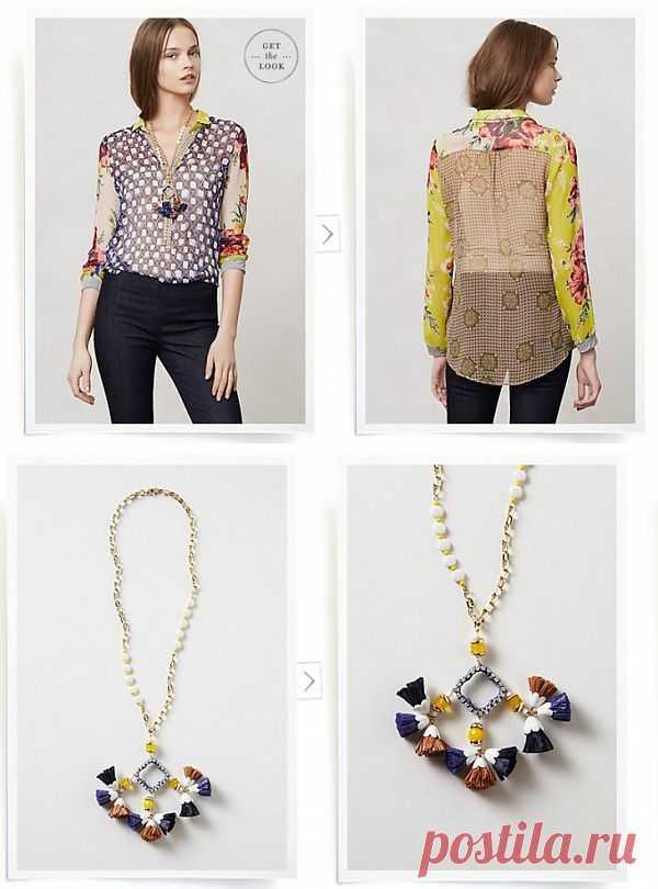 Блузка и украшение Anthropologie / Блузки / Модный сайт о стильной переделке одежды и интерьера