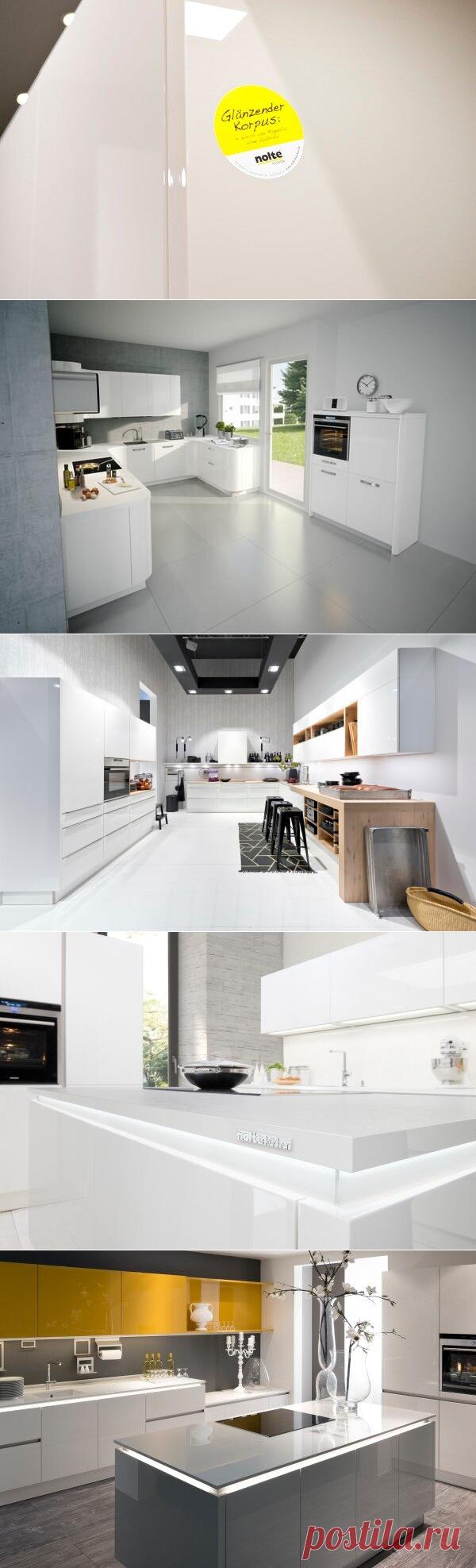 Советы дизайнеров ✅ особенности интерьера с белой глянцевой кухней | Nolte Küchen | Яндекс Дзен