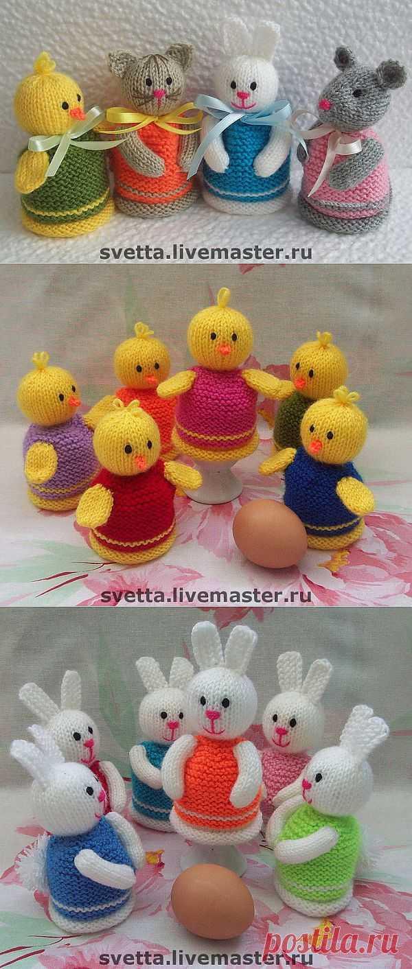 """Очаровательные грелочки для яиц! Идеи и описание грелки """"Зайки"""""""