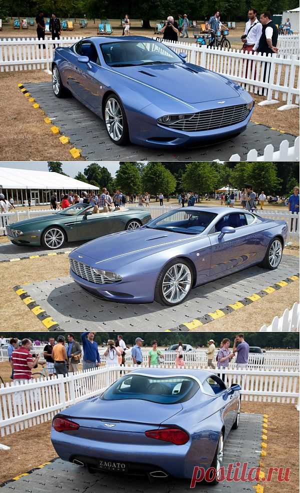 Aston Martin DB9 And DBS Zagato Centennial  - живые фото
