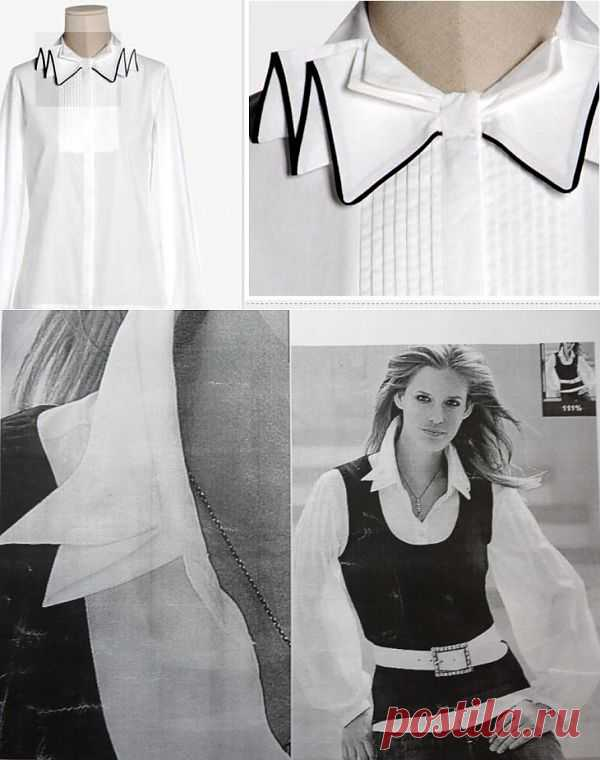 Два интересных воротничка / Воротнички / Модный сайт о стильной переделке одежды и интерьера