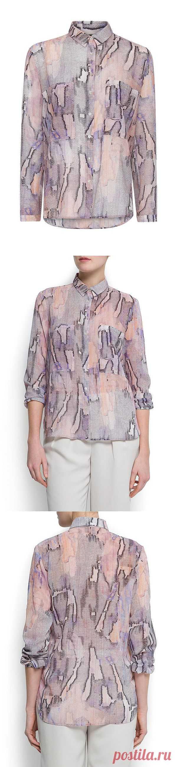 Летняя распродажа на Lamoda еще продолжается!  Шифоновая блузка с интересным принтом со скидкой в 50%. Купить за 1 199 рублей.