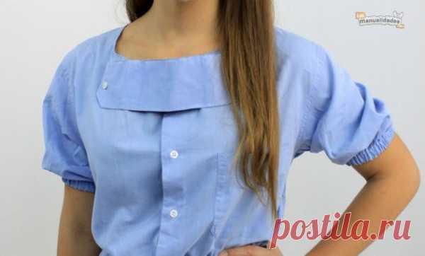 Простые переделки (мастер-классы) / Рубашки / Модный сайт о стильной переделке одежды и интерьера