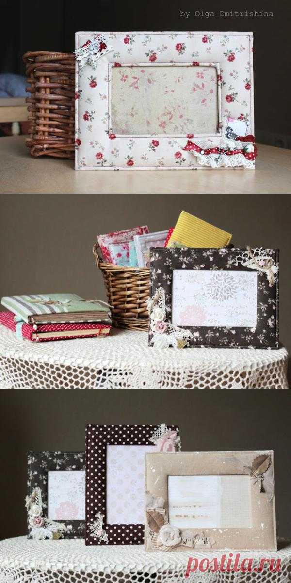 Мягкая и милая рамка для фотографии в подарок или для украшения своего дома