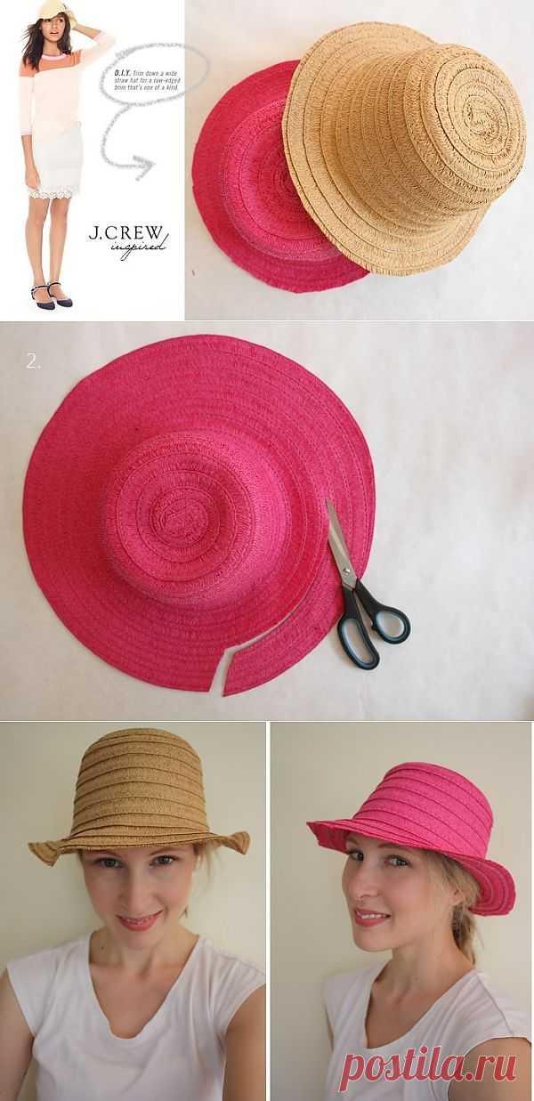 Подстрижка шляп (Diy) / Головные уборы / Модный сайт о стильной переделке одежды и интерьера