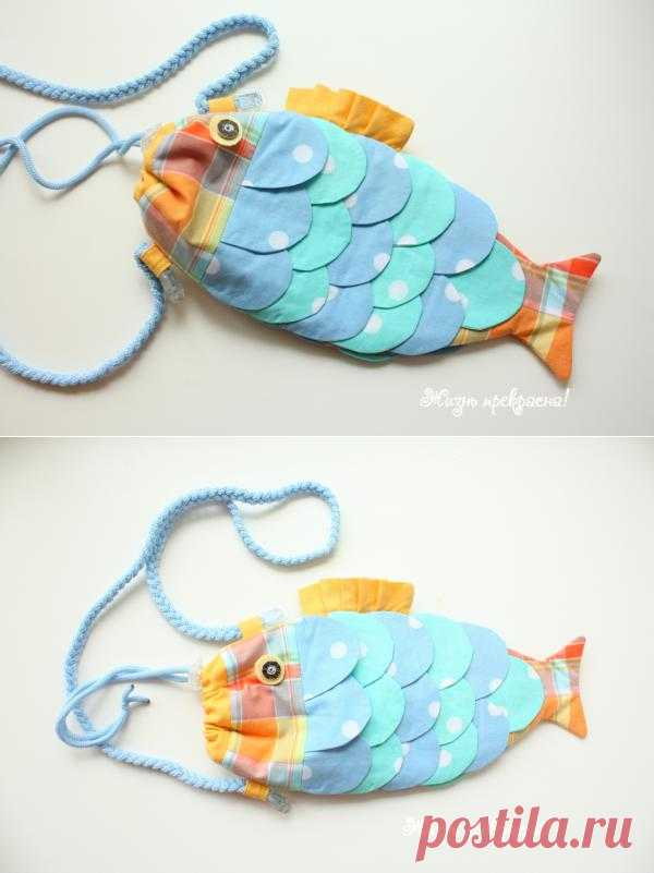 Детская сумочка Рыба. Вот такую чудную сумочку можно сшить на лето своим деткам)