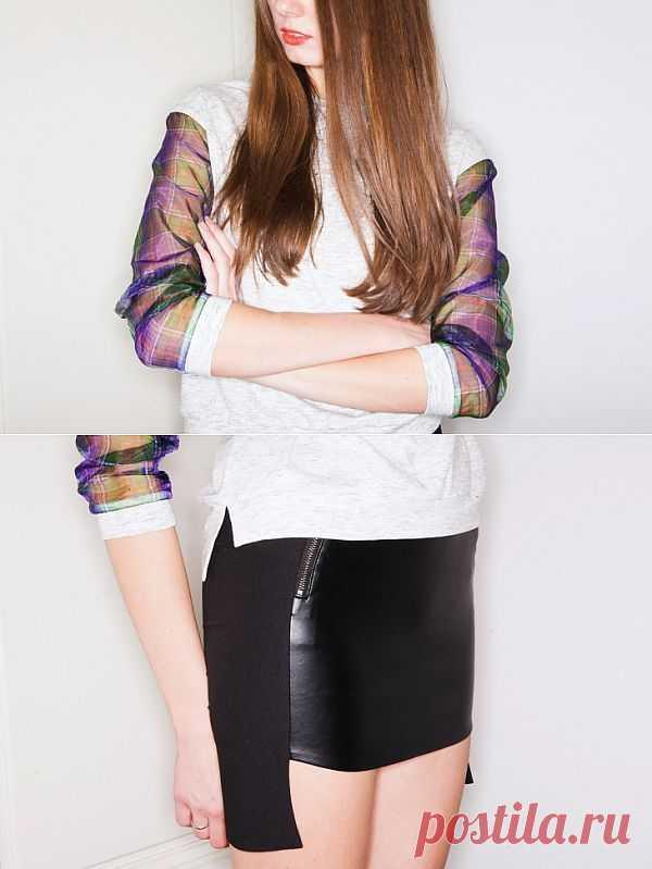 Свитшот и юбка I AM / Худи / Модный сайт о стильной переделке одежды и интерьера